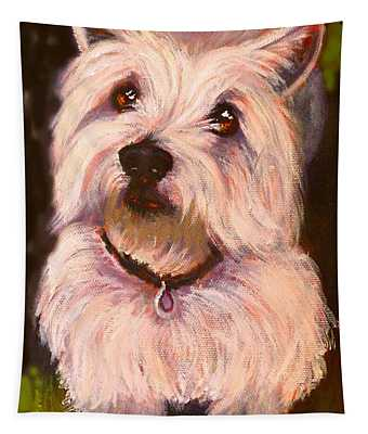West Highland Terrier Reporting For Duty Tapestry