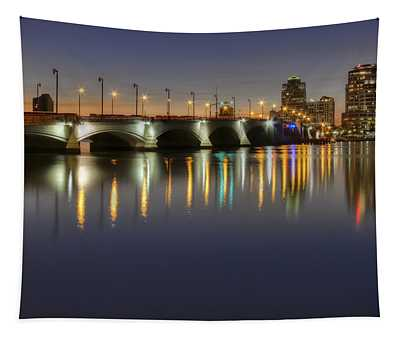 West Palm Beach At Night Tapestry