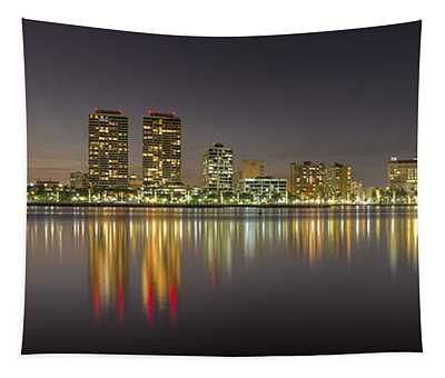 West Palm Beach Skyline Tapestry