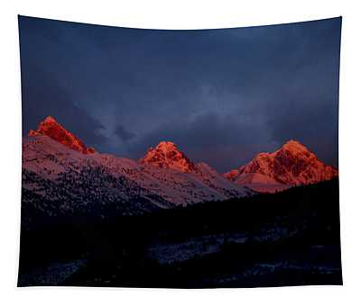 West Side Teton Sunset Tapestry