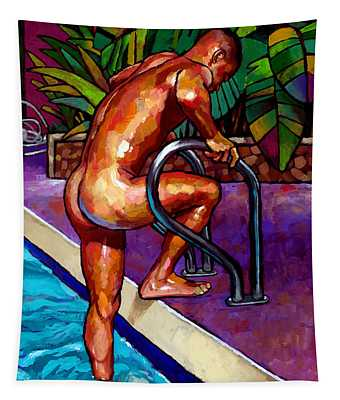 Wet From The Pool Tapestry
