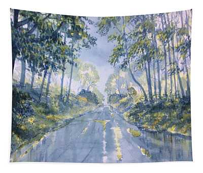 Wet Road In Woldgate Tapestry
