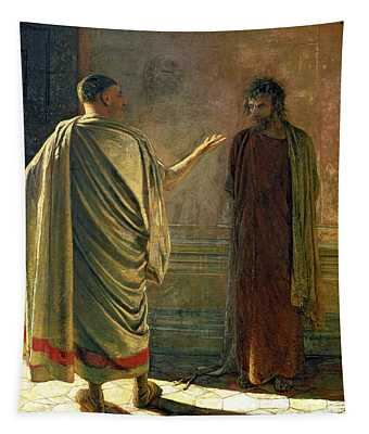 What Is Truth    Christ And Pilate Tapestry