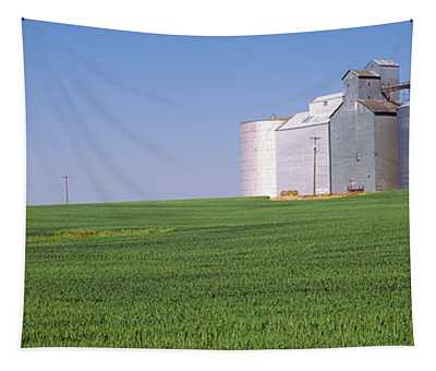 Wheat Field With Silos Tapestry