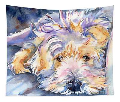 Wheaten Terrier Painting Tapestry