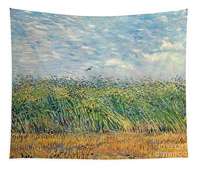 Wheatfield With Lark Tapestry