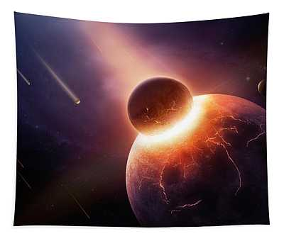 When Planets Collide Tapestry