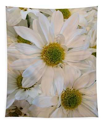 White Daisies Tapestry