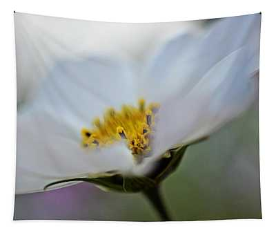White Flower - Fine Art Macro Photography Tapestry