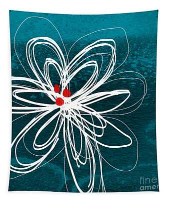 White Flower Tapestry