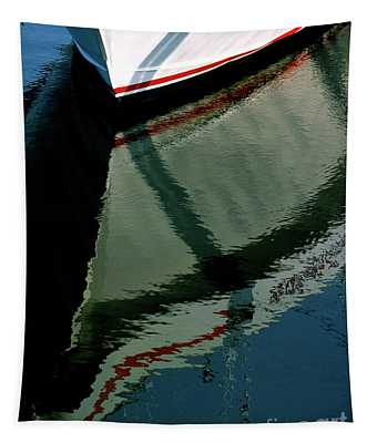 White Hull On The Water Tapestry