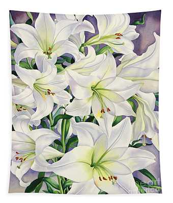 White Lilies Tapestry