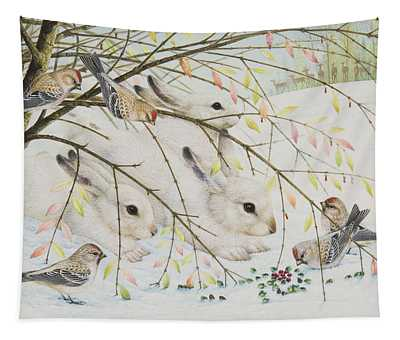 White Rabbits Tapestry