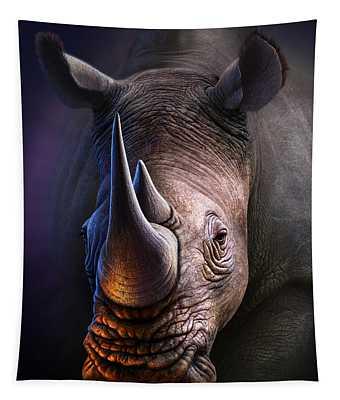 White Rhino Tapestry