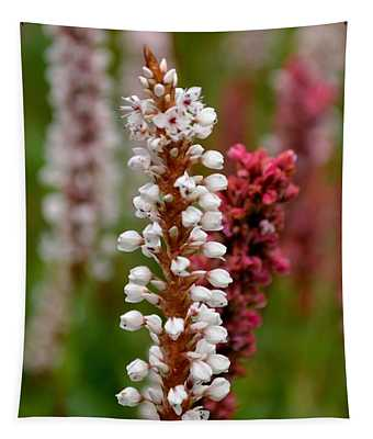 White Stalk Flower Tapestry