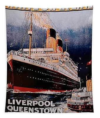 White Star Line Poster 1 Tapestry