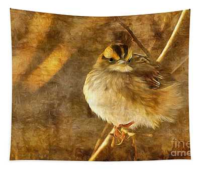 White Throated Sparrow Tapestry