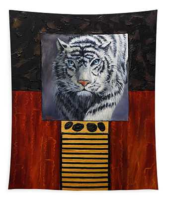 White Tiger Tapestry