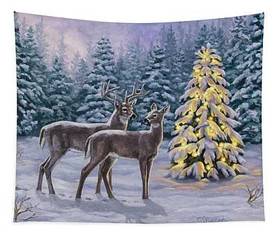 Whitetail Christmas Tapestry