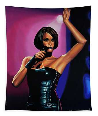 Whitney Houston On Stage Tapestry