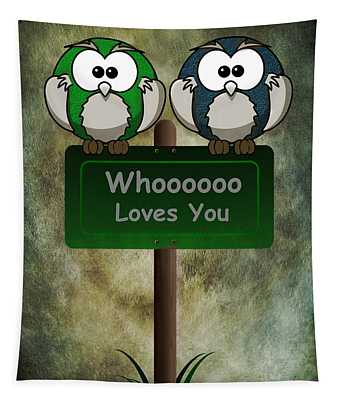 Whoooo Loves You  Tapestry