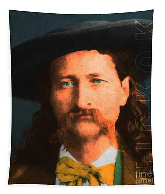 Wild Bill Hickok 20130518 Square With Text Tapestry