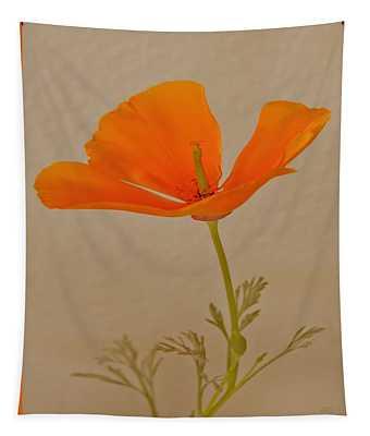 Wild California Poppy No 1 Tapestry