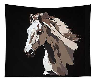 Wild Horse With Hidden Pictures Tapestry