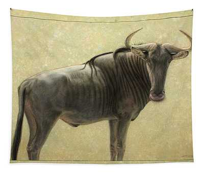 Tapestry featuring the painting Wildebeest by James W Johnson