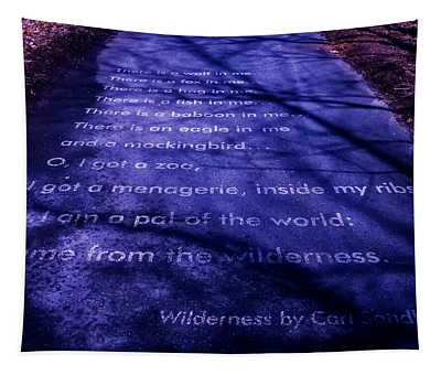Wilderness - Carl Sandburg Tapestry