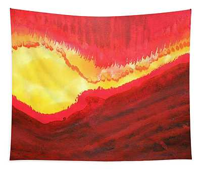 Wildfire Original Painting Tapestry