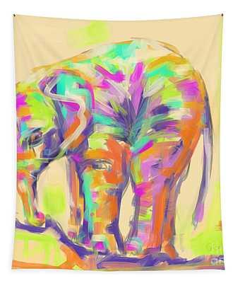 Wildlife Baby Elephant Tapestry