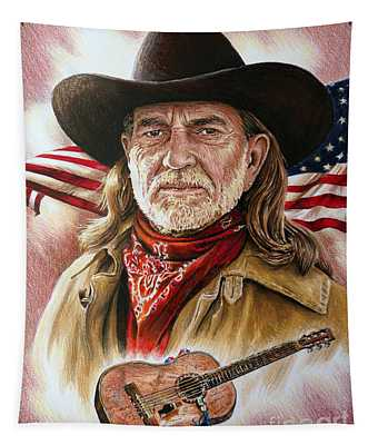 Willie Nelson American Legend Tapestry
