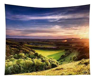 Winchester Hill Sunset Tapestry