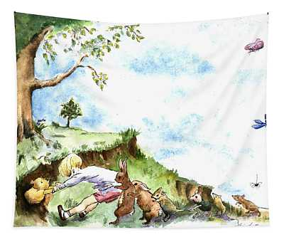 Helping Hands After E H Shepard Tapestry