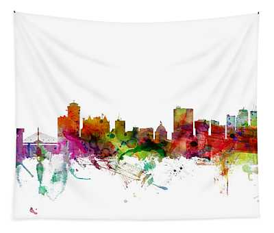 Winnipeg Canada Skyline Tapestry