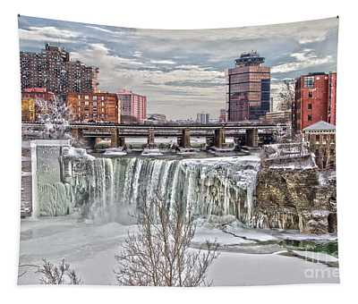 Winter At High Falls Tapestry