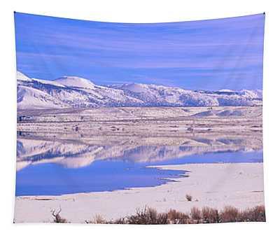 Winter At Mono Lake, California Tapestry
