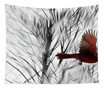 Winter Cardinal Tapestry