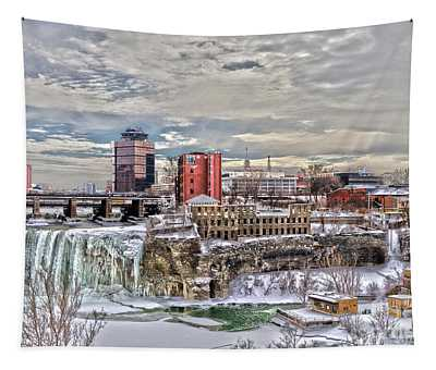 Winter In Rochester Tapestry