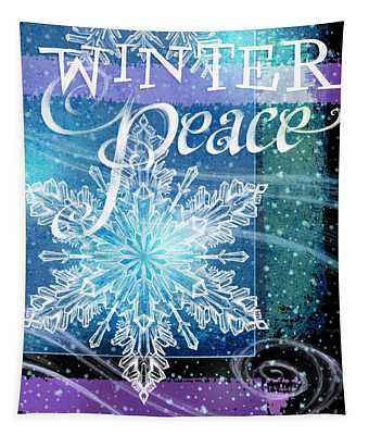 Winter Peace Greeting Tapestry
