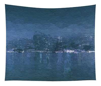 Winter Skyline Tapestry