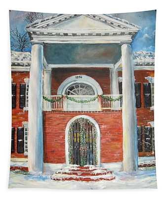 Winter Spirit In Dahlonega Tapestry