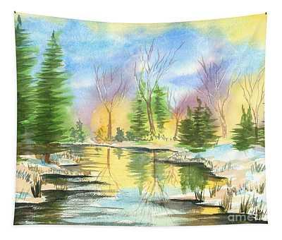 Winter Stillness Tapestry