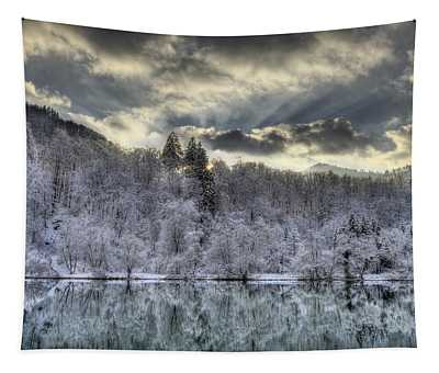Winter Sunset Tapestry