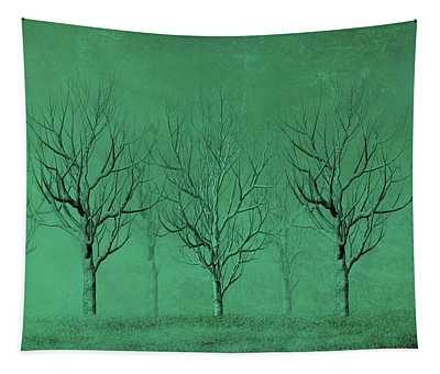 Winter Trees In The Mist Tapestry