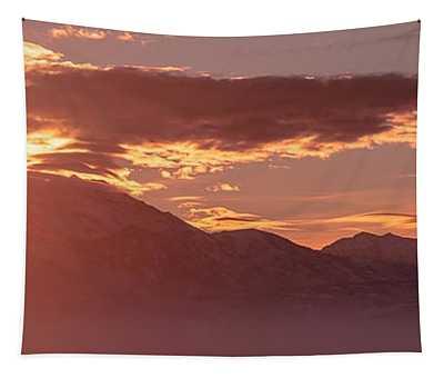 Winter Wasatch Daybreak Tapestry