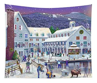 Wintertime At Waterville Valley New Hampshire Tapestry