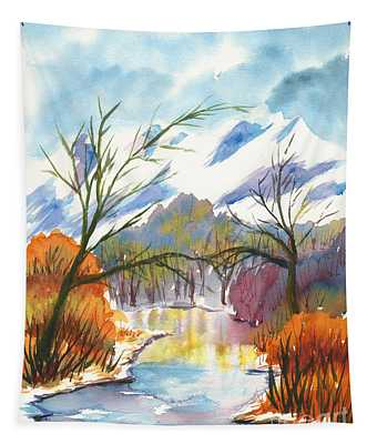 Wintry Reflections Tapestry