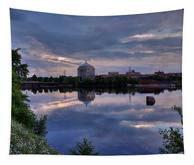 Wisconsin River Reflection Tapestry